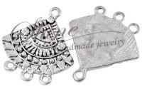 Baza de cercei argintiu antic 26x24x1.5mm