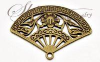 Charm evantai bronz antichizat