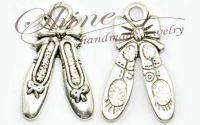 Charm poante balet argintiu antic