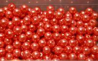 Perle din sticla 8 mm portocalii