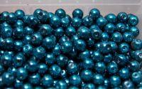 Perle din sticla 8 mm albastru