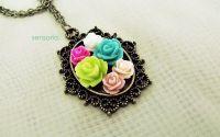 pandantiv trandafiri multicolor