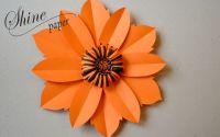 Floare din hartie portocalie