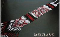 Colier tesut cu motive traditionale