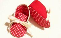 Pantofiori bebe - botosei din bumbac