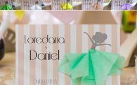 Place card - plic dar botez tema balerine cu tutu