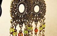 cercei  antichizati filigranati supradimensionati