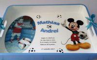 Tava pentru mot cu poza si  Mickey Mouse