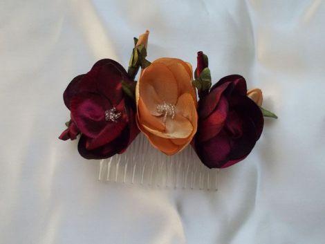 Accesoriu par m2 pieptene handmade flori