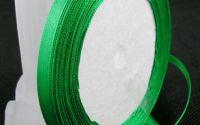 6 mm panglica satin - green