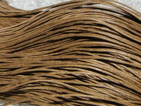 80m snut bumbac cerat 1mm - Coffee Brown