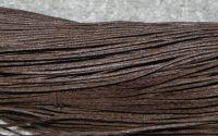80m snut bumbac cerat 1mm - Dark Brown