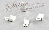 Capat de snur argintiu 6x3x2.3mm