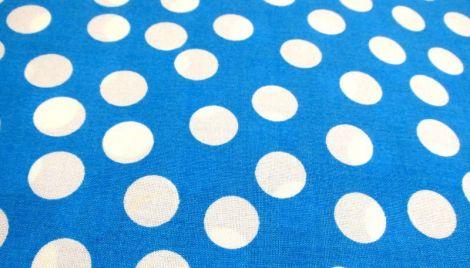 cupon material textil albastru cu buline - 50x146