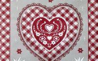 1160 Servetel inima si floare de colt