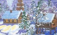 1178 Servetel peisaj de iarna