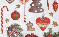 1202 Servetel ornamente de brad