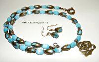 Set de bijuterii boboci turcoaz