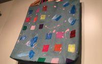 Sacosa Tote Bag din denimblugi pictata manual