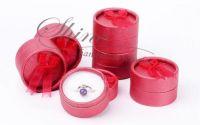 Cutie pentru bijuterii rosu inchis 5.4x3.5cm