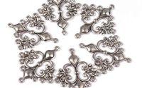 Chandelier argintiu antic 35x29x2mm