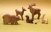 Set animale salbatice din lemn