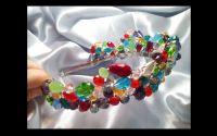 Color Boom Tiara din cristale colorate