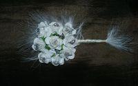 Cocarda flori albe