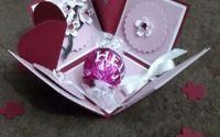 Felicitare-cutiuta martisor cu bomboana