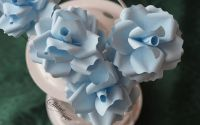 Trandafiri - albastru pastel