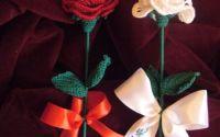 trandafir 8 Martie handmade