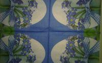 Servetel de paste - Ou cu flori albastre