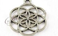Charm floarea vietii argintiu antichizat