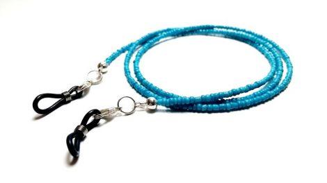 Lantisor pentru ochelari margele albastru turcoaz