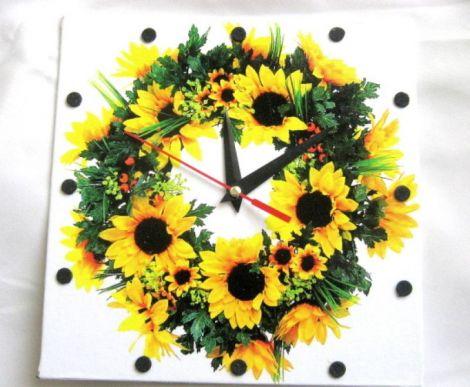 ceas de perete cu floarea soarelui
