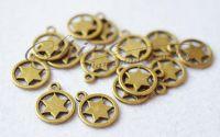 Charm Steaua lui David bronz antic