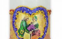 Lumanare naturala Romantica cu Inimioara