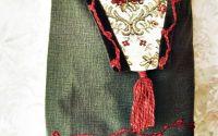geanta kaky cu flori   arabescuri si canaf