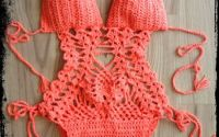 Costum de Baie sau Body crosetat manual