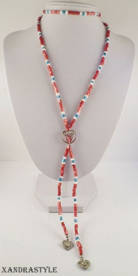 Colier Red lariat