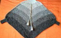 Poncho tricotat Winter Drizzle