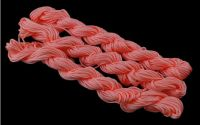 27m snur nylon tip Shamballa 1mm - LIGHT CORAL