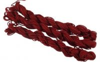 27m snur nylon tip Shamballa 1mm - BURGUNDY RED