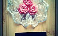 Cocarda textila cu 3 trandafiri - 1
