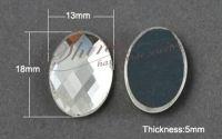 Cabochon oval transparent 18x13x5mm