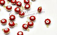Charm floare cu ochi turcescu rosu