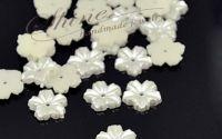 Cabochon floare perla ivory