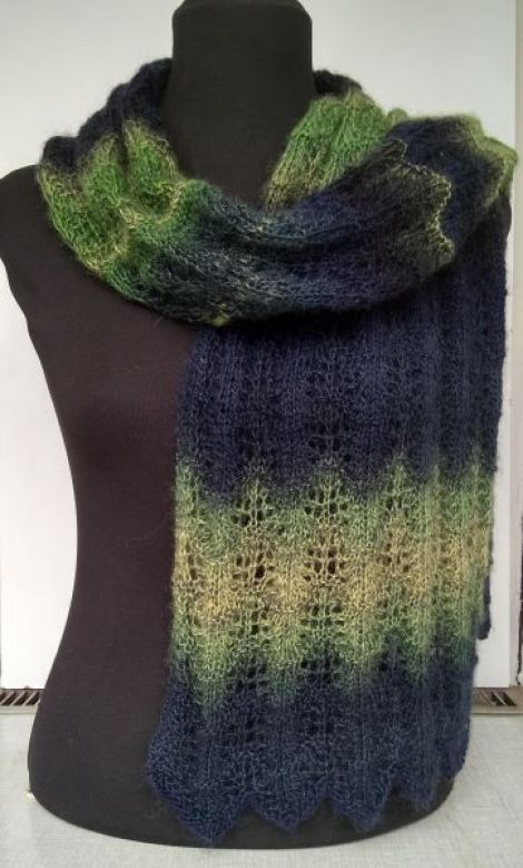 Esarfa tricotata Forest dream