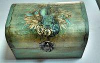 Cutie din lemn handmade design deosebit