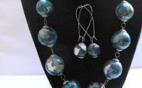 Aqua - Polymer Clay Jewelry Set